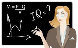 Lehrer neben Vorständen Lizenzfreie Stockfotos