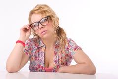 Lehrer am Sekretär Lizenzfreies Stockfoto