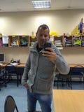 Lehrer selfie stockfoto