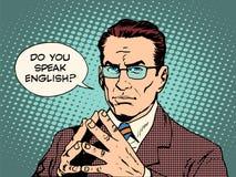 Lehrer sprechen Sie Englisch stock abbildung