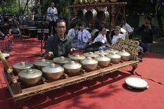 Lehrer und Javanese Gamelan Lizenzfreie Stockfotografie