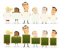 Lehrer-und Kind-Klassenzimmer Stockfotografie