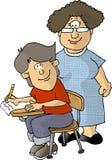 Lehrer und Kursteilnehmer lizenzfreie abbildung