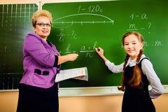Lehrer und Student Stockfotografie
