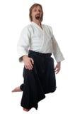 Lehrer von Aikido Stockbilder
