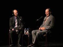 Lehrer y Kean: Un momento más ligero en la demostración seria Fotografía de archivo