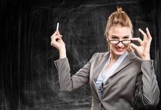 Lehrerporträt stockbild