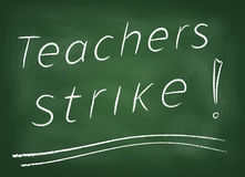 Lehrerstreik Stockfoto