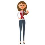 Lehrervertretungsendgeste mit der Hand Ernstes Geschäftdamenverbieten Stockfotos