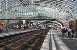 Lehrter Railway Station in Berlin Royalty Free Stock Image