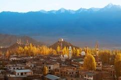 Lehstad Ladakh Noordelijk India Stock Fotografie