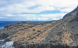 Lehua Rock in Hawaii Royalty Free Stock Photography