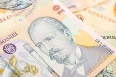lei кредиток румынские Стоковые Фотографии RF