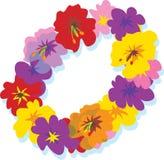 Lei. Hawaiian lei with big colorful hibiscus flowers