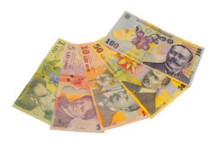 Lei banknote Romanian currency Stock Images