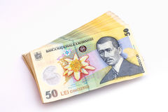 50 Lei banknotes Stock Images