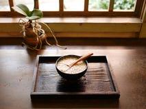 Lei Cha, der traditionelle Hakka-Tee in Taiwan, Asien Stockbild