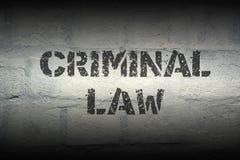 Lei criminal GR fotografia de stock
