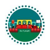 Lei do ícone e conceito de projeto dos povos Foto de Stock Royalty Free