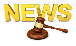 Lei e conceito legal da notícia Foto de Stock Royalty Free
