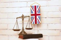 Lei e justiça britânicas Imagens de Stock