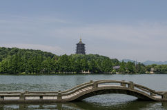 Lei Feng Pagoda and West Lake, Hangzhou Stock Photos