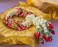Lei of flowers for worship Stock Photography