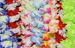 Lei in Market, Hawaii. Colorful Lei in the Hawaiian Market Stock Photography