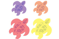 Lei Turtle. An illustration of turtles with lei flower design in them Stock Images