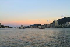 Lei Yue Mun Coast zur Tageszeit stockfotos