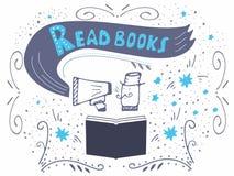 Leia a inscrição dos livros para o convite Foto de Stock