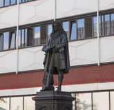 Leibniz Denkmal Leipzig Foto de Stock