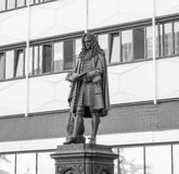 Leibniz Denkmal Leipzig Fotografia Stock