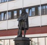 Leibniz Denkmal Lipsia Fotografia Stock