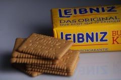 Leibniz-Keks pakuje, Niemiecki gatunek, kakaowi ciastka Obraz Stock
