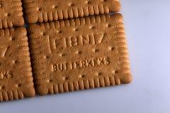 Leibniz-Keks pakuje, Niemiecki gatunek, kakaowy ciastka tło Zdjęcia Royalty Free