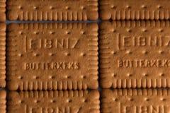 Leibniz-Keks pakuje, Niemiecki gatunek, kakaowy ciastka tło Obrazy Royalty Free