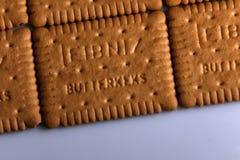 Leibniz-Keks pakuje, Niemiecki gatunek, kakaowy ciastka tło Zdjęcie Royalty Free