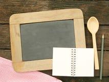 Leibord op oude donkere bruine houten planken Royalty-vrije Stock Afbeelding