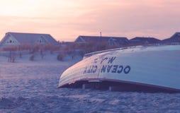 Leibwächter Boat auf Strand Lizenzfreies Stockbild