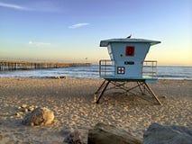 Leibwächter Booth bei Ventura Beach, CA stockfotos