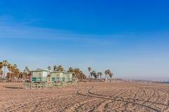 Leibwächter Houses auf Venedig-Strand, Los Angeles lizenzfreie stockfotografie