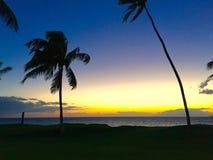 Leibwächter-Kontrollturm am Sonnenuntergang lizenzfreie stockbilder