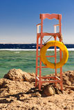 Leibwächter platzieren auf den Strand stockfotos