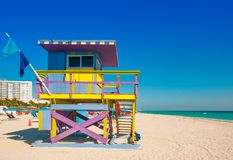 Leibwächter Tower im Südstrand, Miami Beach, Florida Stockfoto