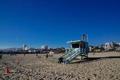 Leibwächter Tower 20 in Strand Los Angeles Santa Monica stockfoto