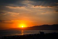 Leibwächterhütte auf dem Strand Lizenzfreie Stockfotos