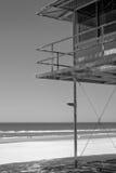 Leibwächterhütte auf dem Strand stockfotografie