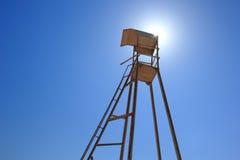 Leibwächterkontrollturm Stockfoto