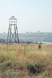 Leibwächterkontrollturm gebildet vom Holz Lizenzfreies Stockfoto